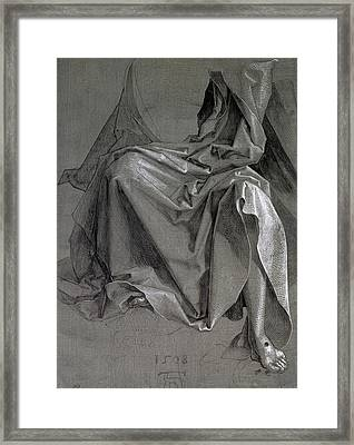 Study Of The Robes Of Christ, 1508 Gouache And Ink On Paper Framed Print by Albrecht D�rer or Duerer
