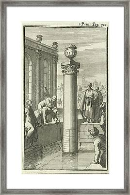 Study Of The Water Level In Cairo, Egypt Framed Print by Jan Luyken And Charles Angot