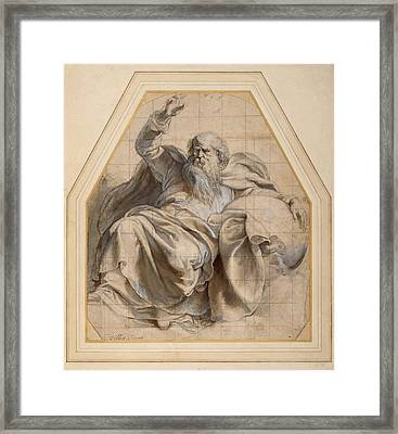 Study Of Zacchariah Framed Print by Peter Paul Rubens