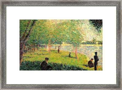 Study On La Grande Jatte Framed Print by Georges Seurat