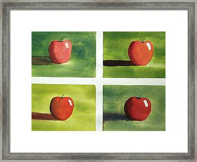 Study Red And Green Framed Print
