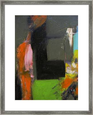 Framed Print featuring the painting Study- Two Figures by Fred Smilde