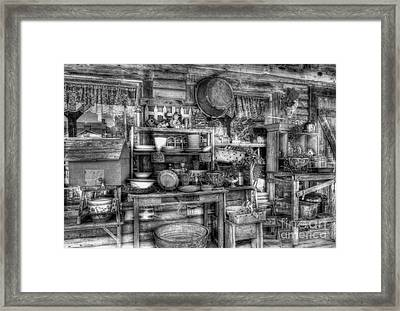 Stuff For Sale Bw Framed Print by Mel Steinhauer