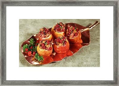 Stuffed Baked Apples Framed Print by Iris Richardson