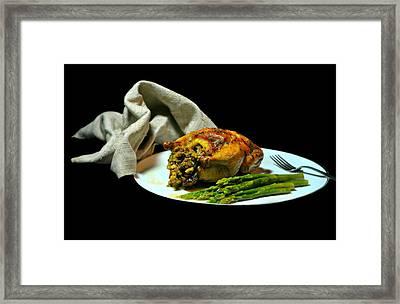 Stuffed Cornish Hen Framed Print by Diana Angstadt