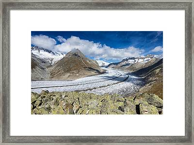 Stunning Aletsch Glacier In The Swiss Alps Switzerland Framed Print
