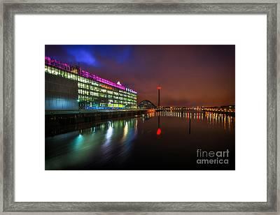 Stunning Bbc Scotland In Glasgow Framed Print by John Farnan