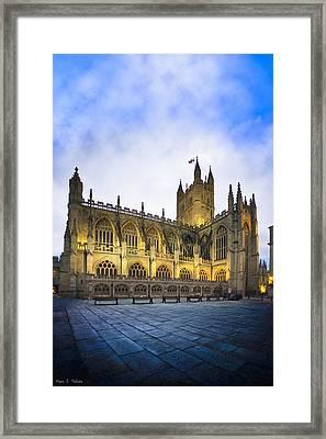 Stunning Beauty Of Bath Abbey At Dusk Framed Print