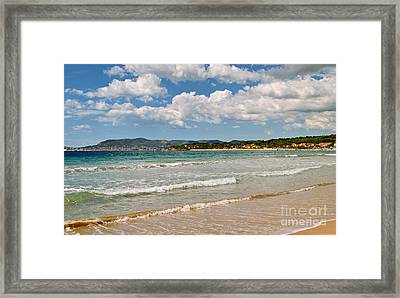 Stunning Clouds Over Cote Dazur Framed Print