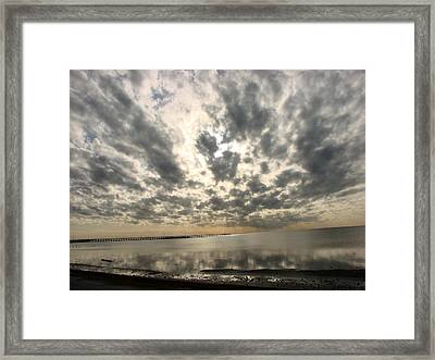 Framed Print featuring the photograph Stunning Coastal Sunrise by Linda Cox