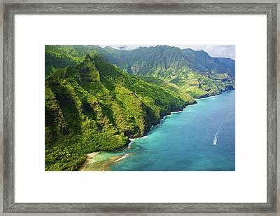 Stunning Kauai Coastline Framed Print