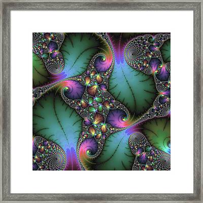 Framed Print featuring the digital art Stunning Mandelbrot Fractal by Matthias Hauser