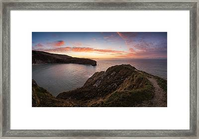 Stunning Sunrise Over Ocean Landscape Framed Print by Matthew Gibson