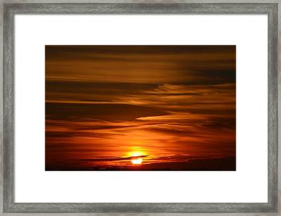 Stunning Sunset Framed Print