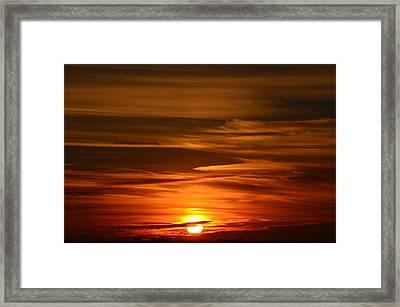 Stunning Sunset Framed Print by Nikki McInnes