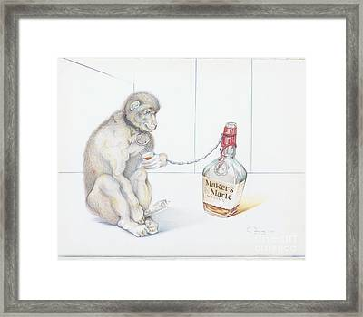 Stupid Monkey Framed Print