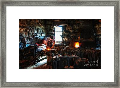 Sturbridge Village Blacksmith Framed Print