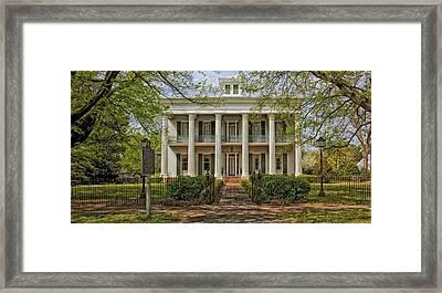 Sturdivant Hall - Selma Alabama Framed Print