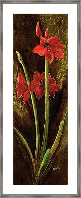 Framed Print featuring the painting Sturdy Blooms by Vic  Mastis