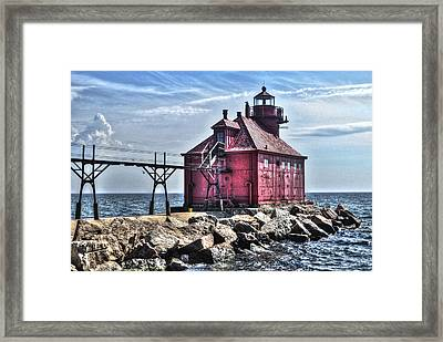 Framed Print featuring the photograph Sturgeon Bay Ship Canal by Deborah Klubertanz