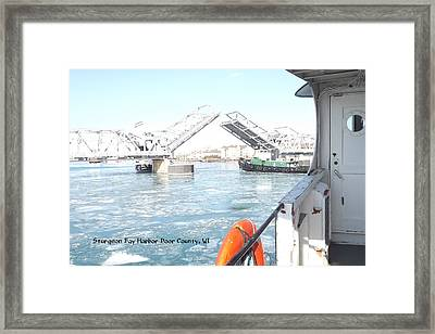 Sturgeon Bay's Working Harbor Framed Print