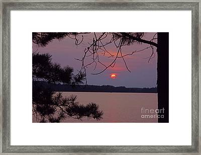 Sturgeon Lake Mn Sunset Framed Print