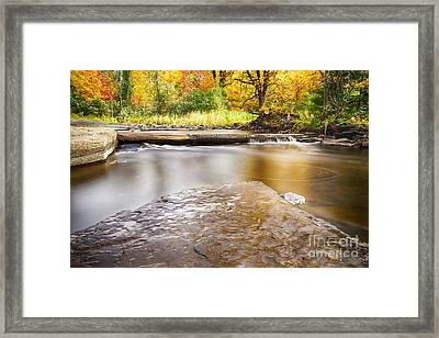 Sturgeon River In Fall Framed Print by Twenty Two North Photography