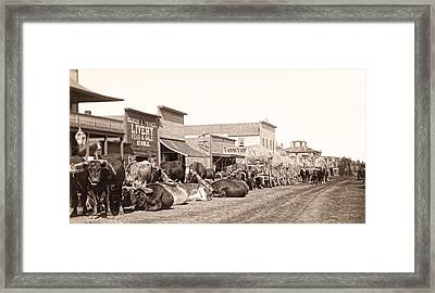 Sturgis South Dakota C. 1890 Framed Print by Daniel Hagerman
