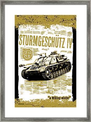 Sturmgeschutz Iv Framed Print by Philip Arena