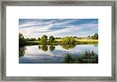 Sturminster Newton - River Stour - Dorset - England Framed Print by Natalie Kinnear
