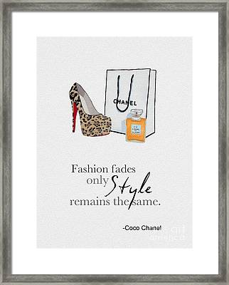 Style Remains The Same Framed Print