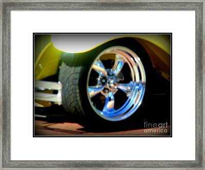 Framed Print featuring the photograph Stylin' Wheels by Bobbee Rickard