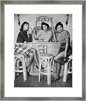 Stylish African American Women Framed Print by Underwood Archives