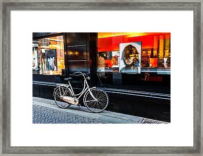 Stylish Dutch Bike Framed Print