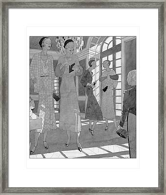 Stylish Women Framed Print by Jean Pag?s