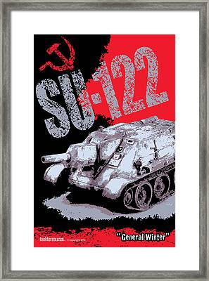Su-122 Russian Tank Framed Print by Philip Arena