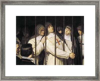 Suarez Llanos, Ignacio 1830-1881. Sor Framed Print by Everett