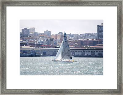 Framed Print featuring the photograph Sub Sail Chocolate by George Mount