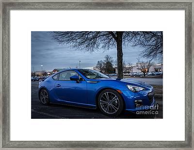 Subaru Brz Framed Print by Robert Loe