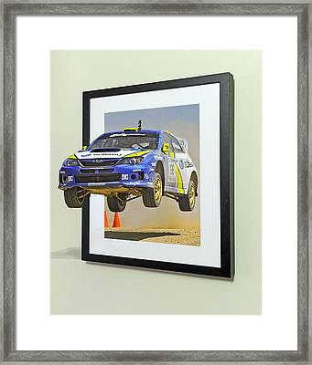 Subaru Frame Break Out  Framed Print by Russell Mcconkey
