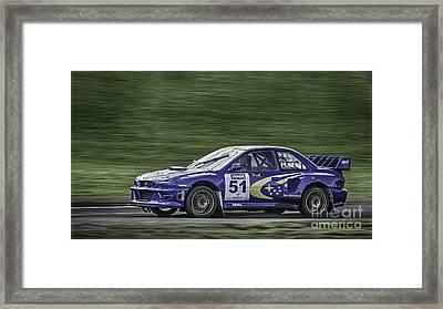 Subaru Imprezza Framed Print by Nigel Jones