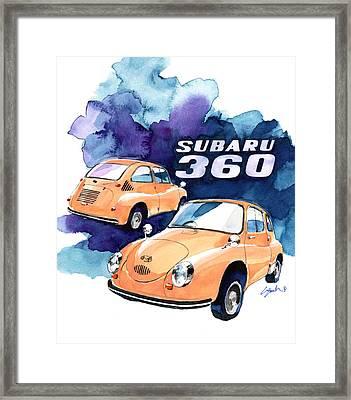 Subaru 360 Framed Print by Yoshiharu Miyakawa