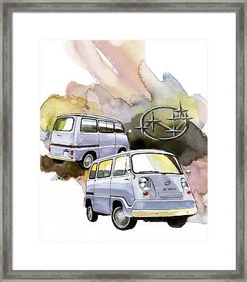 Subaru Samber 360 Framed Print by Yoshiharu Miyakawa
