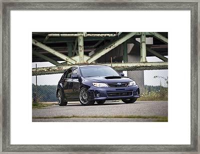 Subaru Wrx Sti Framed Print by Eric Gendron
