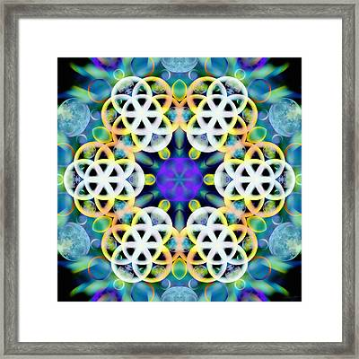 Subatomic Orbit Framed Print