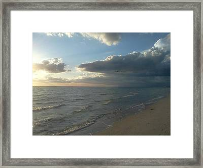 Subdued Sunset Framed Print by K Simmons Luna