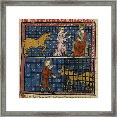 Subject Kneeling To Alexander Framed Print by British Library