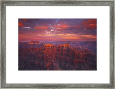 Sublime Fire Framed Print by Peter Coskun