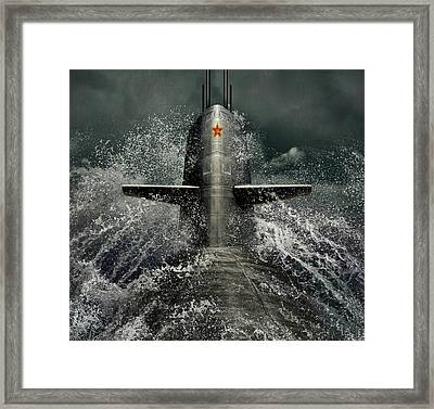 Submarine Framed Print by Dmitry Laudin