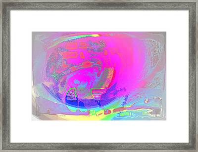 We All Live In A Pink Submarine Framed Print